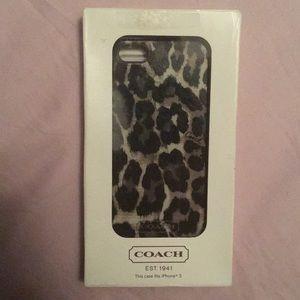 Coach Cheetah Print iPhone 5/5s Case